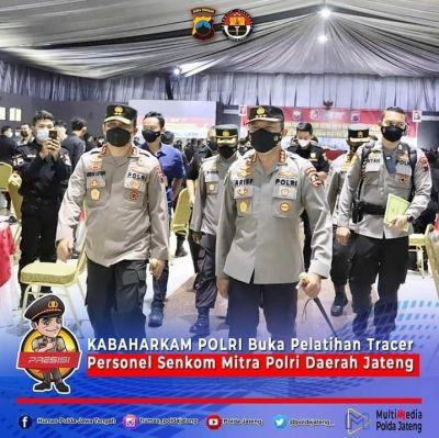 Senkom Mitra Polri Gandeng Mabes Polri, Polda Jateng dan Kemenkes Beri Pelatihan Tracer Covid-19