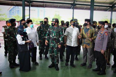 Panglima TNI Bersama Kapolri, dan Menkes Kunjungi Lokasi Vaksin, LDII Tuai Apresiasi