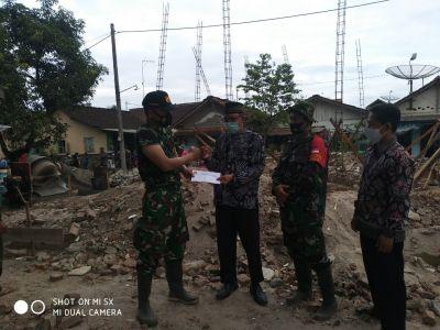 PC LDII Tonjong Bantu Pembangunan Mushola Koramil